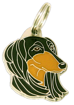 SALUKI BLACK AND TAN - pet ID tag, dog ID tags, pet tags, personalized pet tags MjavHov - engraved pet tags online